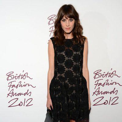 Alexa Chung en los British Fashion Awards 2012