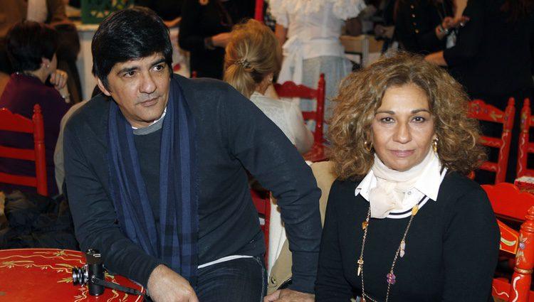 Lolita y Pablo Durán en el homenaje a Antonio Flores en el Rastrillo 2012