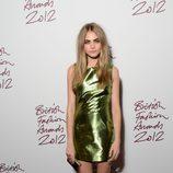 Cara Delevingne en los British Fashion Awards 2012