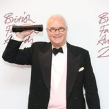 Manolo Blahnik en los British Fashion Awards 2012