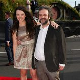 Peter Jackson y su hija Katie en el estreno de 'El Hobbit: Un viaje inesperado' en Nueva Zelanda