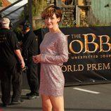Evangeline Lilly en el estreno de 'El Hobbit: Un viaje inesperado' en Nueva Zelanda