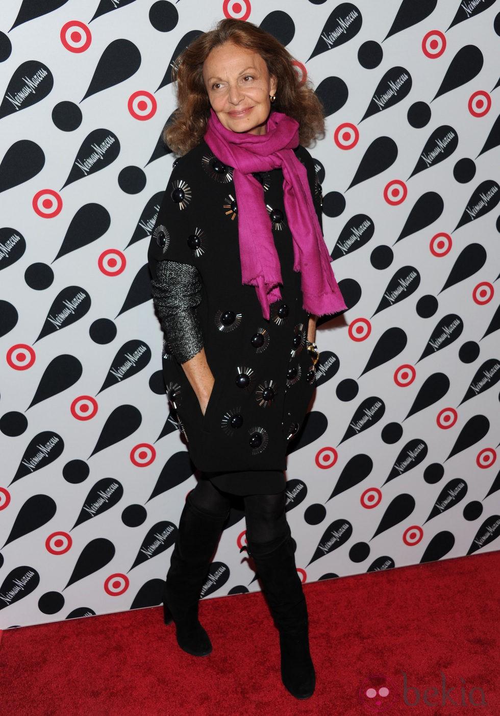 Diane von Furstenberg en la presentación de la nueva colección de Neiman Marcus