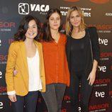 Nadia de Santiago y Natalia Sánchez en el estreno de 'Invasor' en Madrid