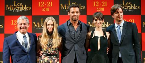 Amanda Seyfried, Hugh Jackman, Anne Hathaway y Tom Hooper presentan 'Los Miserables' en Tokio