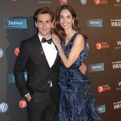 Marc Clotet y Eugenia Silva en la gala contra el Sida 2012 de Barcelona