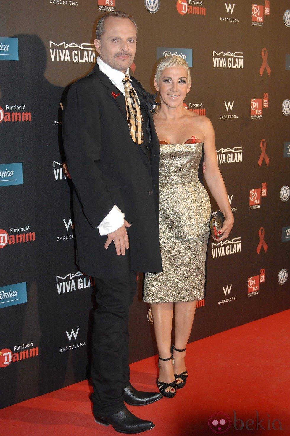 Miguel Bosé y Ana Torroja en la gala contra el Sida 2012 de Barcelona