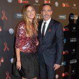 Martina Klein y Álex Corretja en la gala contra el Sida 2012 de Barcelona