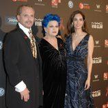 Miguel Bosé, Lucía Bosé y Eugenia Silva en la gala contra el Sida 2012 de Barcelona