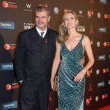 Judit Mascó y su marido en la gala contra el Sida 2012 de Barcelona