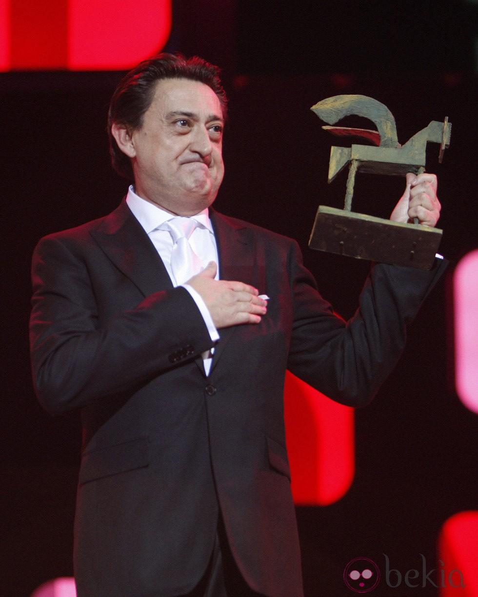 Mariano Peña recoge su galardón en los Premios Ondas 2012