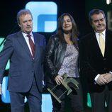 Manuel Campo Vidal, Àngels Barceló y Fermín Bocos en los Premios Ondas 2012