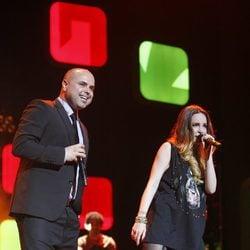 Juan Magán y Belinda en los Premios Ondas 2012