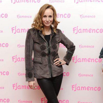 Mar Regueras en la fiesta del 15 aniversario de la firma Flamenco