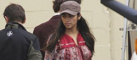 Camila Alves embarazada en el rodaje de película que protagoniza Matthew McConaughey