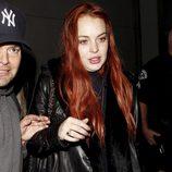 Lindsay Lohan muy pálida y con mala cara
