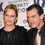 Antonio Banderas y Melanie Griffith en la gala RFK 2012 en Nueva York