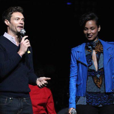 Ryan Seacret y Alicia Keys en el concierto Jingle Ball 2012 en Los Angeles