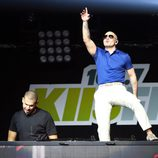 Afrojack y Pitbull en el concierto Jingle Ball 2012 en Los Angeles