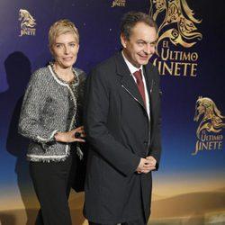 José Luis Rodríguez Zapatero y Sonsoles Espinosa en el estreno del musical 'El último jinete'