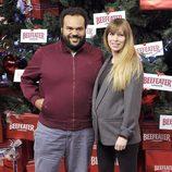 Carlos Jean enciende el árbol de Navidad del Palacio de Cibeles de Madrid