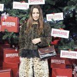 Natalia Verbeke enciende el árbol de Navidad del Palacio de Cibeles de Madrid