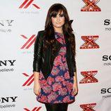 Demi Lovato en una fiesta de 'The X Factor'