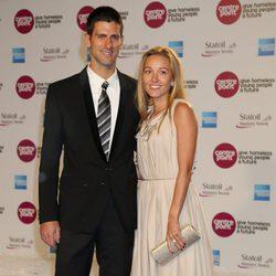 Novak Djokovic y Jelena Ristic en la White Gala