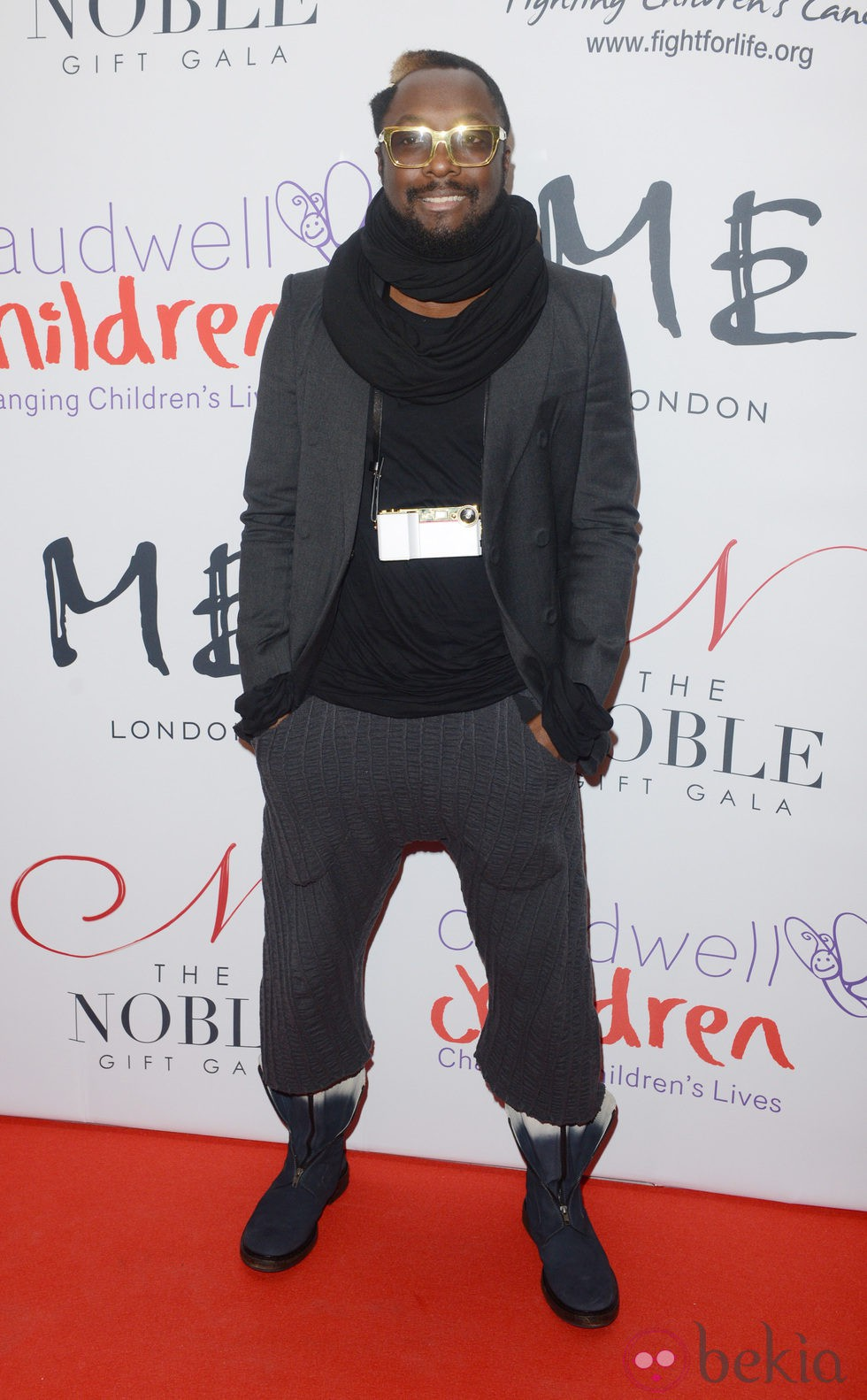Will.i.am en la Noble Gift Gala 2012 celebrada en Londres