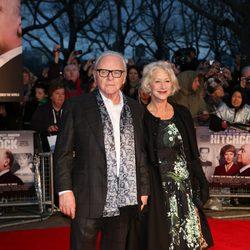 Anthony Hopkins y Helen Mirren en el estreno de 'Hitchcock' en Londres