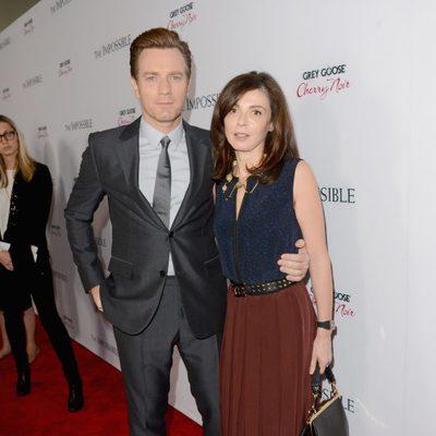 Ewan McGregor y su mujer Eve Mavrakis en el estreno de 'Lo imposible' en Los Ángeles