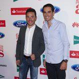 Purito Rodríguez y Alberto Contador en los Premios As del Deporte 2012