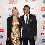 Radamel Falcao y Lorelei Tarón en los Premios As del Deporte 2012