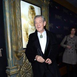 Ian Mckellen en el estreno de la premiere de 'El Hobbit'