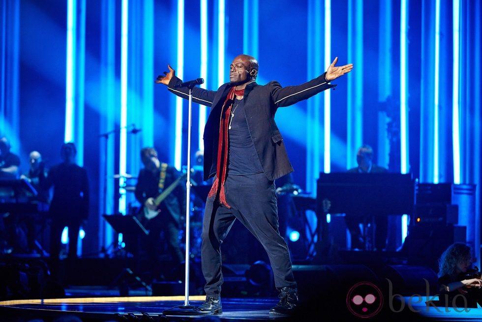 Seal en el concierto en honor al Premio Nobel de la Paz 2012