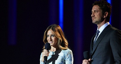 Sarah Jessica Parker y Gerard Butler en el concierto en honor al Premio Nobel de la Paz 2012