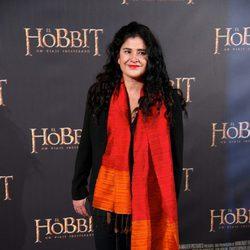 Lucía Etxebarria en el estreno de 'El Hobbit: Un viaje inesperado' en Madrid