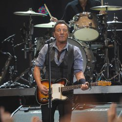 Bruce Springsteen en el concierto a beneficio de las víctimas del huracán Sandy