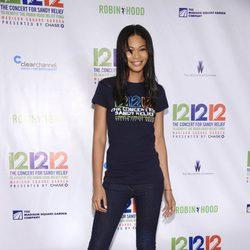 Chanel Iman en el concierto a favor de las víctimas del huracán Sandy