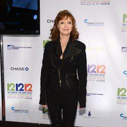 Susan Sarandon en el concierto a favor de las víctimas del huracán Sandy