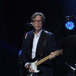Eric Clapton en el concierto a favor de las víctimas del huracán Sandy