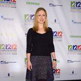 Chelsea Clinton en el concierto a favor de las víctimas del huracaán Sandy