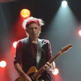 Keith Richards en el concierto a favor de las víctimas del huracán Sandy