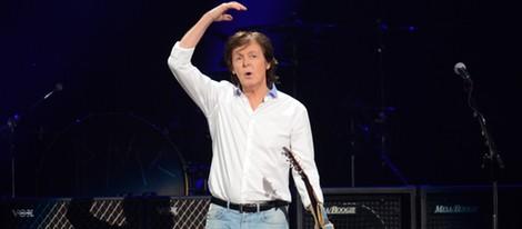 Paul McCartney en el concierto a favor de las víctimas del huracán Sandy