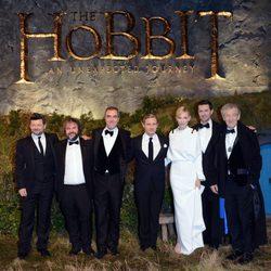 Peter Jackson y el reparto de 'El Hobbit: Un viaje inesperado' en su estreno en Londres