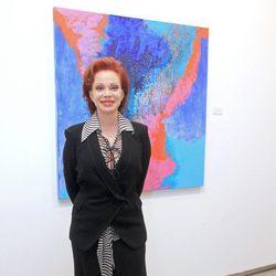Paloma San Basilio en la presentación de su exposición de pintura
