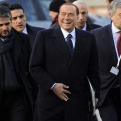 Silvio Berlusconi en un acto celebrado en Bélgica