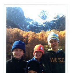 Postal de Navidad 2012 de los Duques de Palma con sus hijos como protagonistas