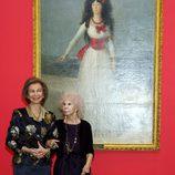 La Reina Sofía y la Duquesa de Alba en la exposición 'El Legado Casa de Alba'