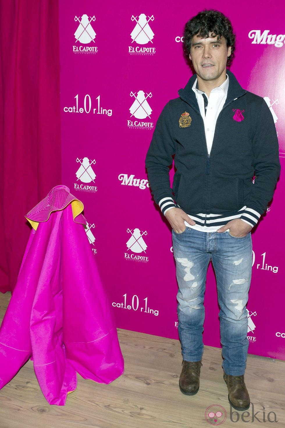 Miguel Abellán en la inauguración de una tienda